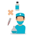 Medical healthcare graphic design with icons vector image vector image