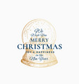 merry christmas abstract retro label logo vector image