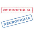 necrophilia textile stamps vector image vector image