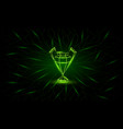 neon low poly champions league banner vector image vector image