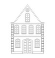 old town house vector image