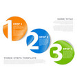 one two three - stickers with numbers vector image vector image