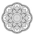 ornamental simple mandala vector image vector image