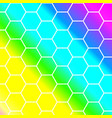 outline hexagon pattern background vector image vector image