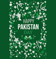 pakistan independence day vector image vector image
