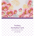 pink flowers card beautiful vector image