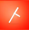 police rubber baton icon on orange background vector image