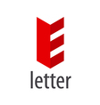Red abstract logo letter E vector image vector image