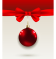 Red bow and decoration vector image vector image