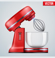 red stand mixer vector image vector image