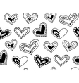 seamless pattern with hand drawn ink doodle vector image vector image