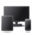 set electronic devices with black blank screens vector image vector image