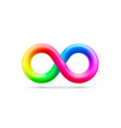 symbol infinity rainbow design element vector image