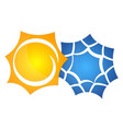 symbol of the sun and a snowflake vector image vector image