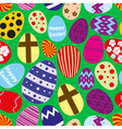 various color Easter eggs design seamless pattern vector image vector image