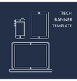 Web Template of Adaptive Site or Article Form vector image vector image