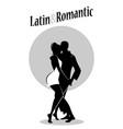 young couple dancing bachata bn-02 vector image vector image