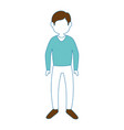 young man cartoon vector image