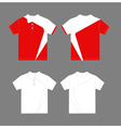 Modern polo shirt design vector image