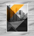 abstract orange black company brochure design vector image vector image