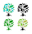 Abstract Tree Set vector image vector image