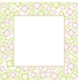 background with pink and green flowers vector image