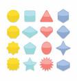 basic colorful geometrical shape web buttons set vector image