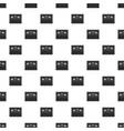 black electronic soccer scoreboard pattern vector image vector image
