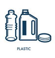 bottles plastic capacity symbol outline view of vector image