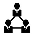 businessmen network icon vector image