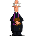 catholic priest vector image vector image