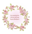Cherry frame with poem vector image vector image