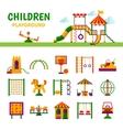 Children Playground Equipment vector image