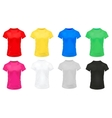 Colorful Sports Shirts Icon Set vector image