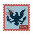 Eagle stamp vector image vector image