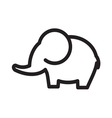 elephant simple line vector image