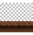 Empty Wooden Tabletop vector image