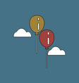 Flat icon design collection two balloons in sky