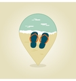 Flip Flops pin map icon Summer Beach Sun Sea vector image vector image