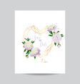 floral wedding invitation white peony flowers vector image vector image