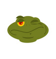 frog winks emoji toad avatar happy amphibious vector image vector image