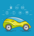 futuristic and modern car design vector image