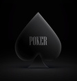 gambling card symbol isolated on dark vector image
