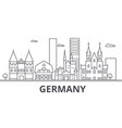 germany architecture line skyline vector image vector image