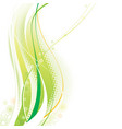 green elements background vector image vector image