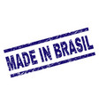 grunge textured made in brasil stamp seal vector image vector image