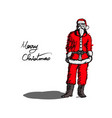 healthy and fit santa claus standing vector image