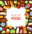 healthy food and diet concept banner vector image