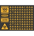 icn set triangle yellow warning caution vector image