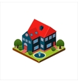 isometric icon representing modern house vector image vector image